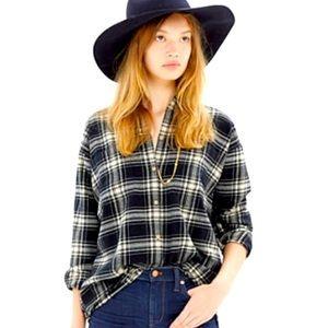 Madewell Black Plaid Trapeze Flannel Shirt